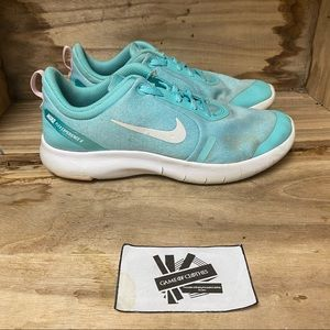 Nike flex experience 8 blue white running sneakers